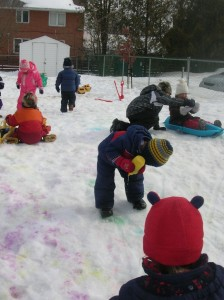 Winter in the Play Yard